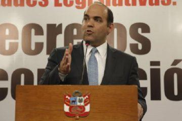 PREMIER FERNANDO ZAVALA Y MINISTRA DE JUSTICIA MARISOL PEREZ TELLO
